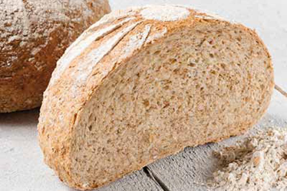 foto van licht volkorenbrood